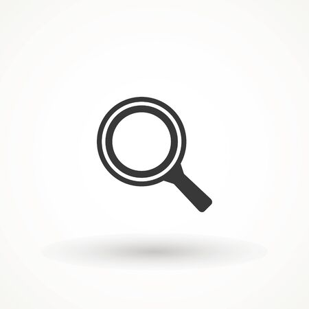 Magnify icon. Magnifying glass icon, vector magnifier or loupe sign. Search vector, magnifying glass pictogram. Zoom symbol