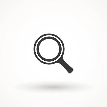Vergroot pictogram. Vergrootglaspictogram, vectorvergrootglas of loepteken. Zoek vector, vergrootglas pictogram. Zoom symbool