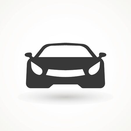 Car vector icon. Isolated simple view front logo illustration. Sign symbol. Auto style car logo design with concept sports vehicle icon silhouette. Foto de archivo - 134793156
