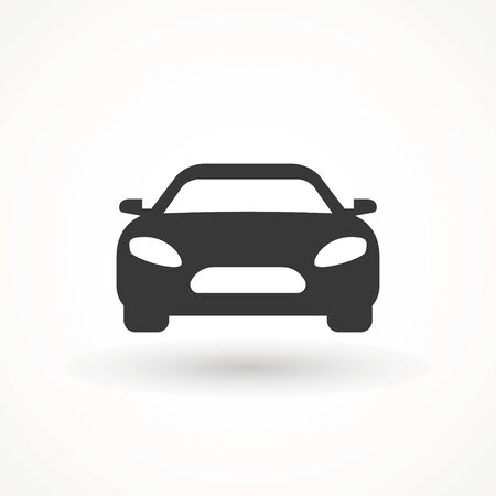 Car vector icon. Isolated simple view front logo illustration. Sign symbol. Auto style car logo design with concept sports vehicle icon silhouette. Foto de archivo - 134793091