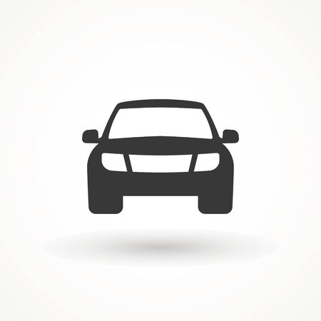 Car vector icon. Isolated simple view front logo illustration. Sign symbol. Auto style car logo design with concept sports vehicle icon silhouette. Foto de archivo - 134793059