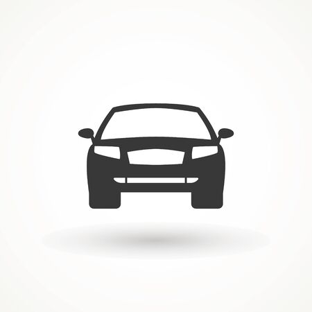 Car vector icon. Isolated simple view front logo illustration. Sign symbol. Auto style car logo design with concept sports vehicle icon silhouette. Foto de archivo - 134793060