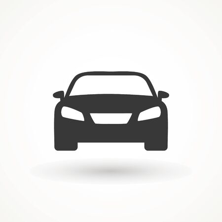 Car vector icon. Isolated simple view front logo illustration. Sign symbol. Auto style car logo design with concept sports vehicle icon silhouette. Foto de archivo - 134793075