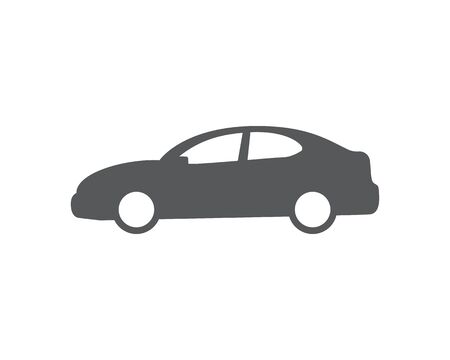 Car vector icon. Isolated simple front logo illustration. Sign symbol. Auto style car logo design with concept sports vehicle icon silhouette Foto de archivo - 134793066