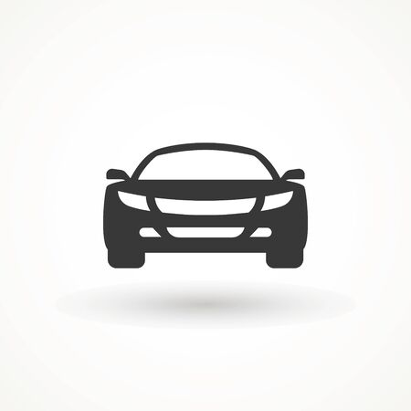 Car vector icon. Isolated simple view front logo illustration. Sign symbol. Auto style car logo design with concept sports vehicle icon silhouette. Foto de archivo - 134793065