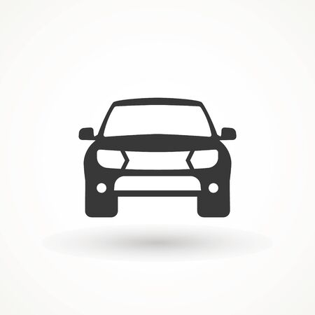 Car vector icon. Isolated simple view front logo illustration. Sign symbol. Auto style car logo design with concept sports vehicle icon silhouette. Foto de archivo - 134793067