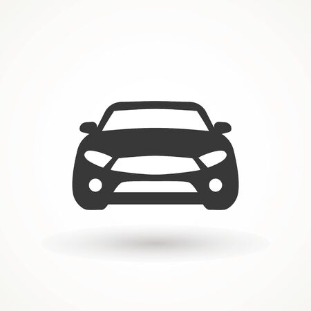 Car vector icon. Isolated simple view front logo illustration. Sign symbol. Auto style car logo design with concept sports vehicle icon silhouette. Foto de archivo - 134793068