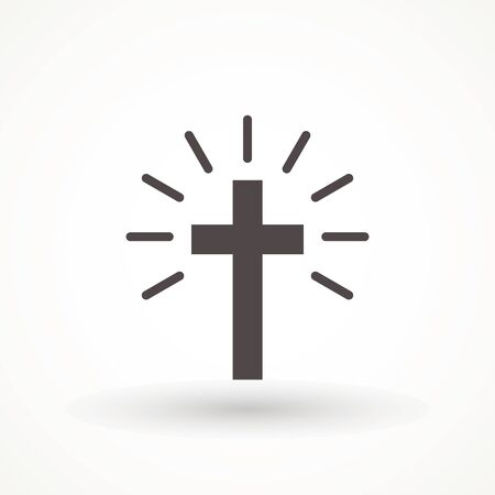 Religion cross icon vector illustration on white background. christian cross icon symbol