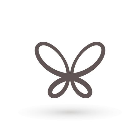 butterfly icon. Concept Logo Design Template Set of silhouette of butterfly, vector illustration