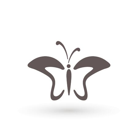 butterfly icon. Concept Logo Design Template Set of silhouette of butterfly, vector illustration Archivio Fotografico - 138421699