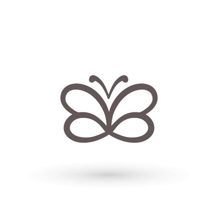 butterfly icon. Concept Logo Design Template Set of silhouette of butterfly, vector illustration Archivio Fotografico - 138421701