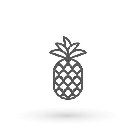 Pineapple icon Minimal Sign Vector Design. Pineapple Icon. Trendy Tropical Element. Vector Graphics. Isolated.