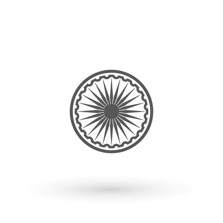 Ashoka Wheel Indian symbol icon. Element of India for mobile concept and web apps icon. Outline, thin line icon for website design and development, app development Stock Illustratie