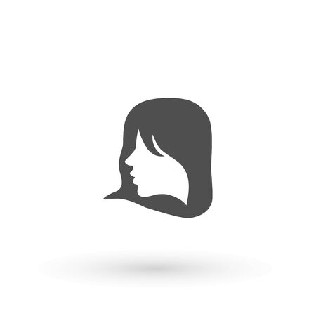 Woman profile beauty illustration vector. women face. silhouette head, face isolated. Use for beauty salon, spa, cosmetics design