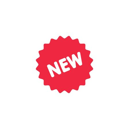 New product red label. New product red sign, banner. Vector illustration