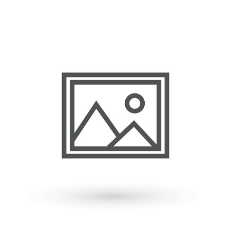 Picture Image photo icon template editable. Picture symbol vector sign isolated on white background. nature portfolio icon gallery folder