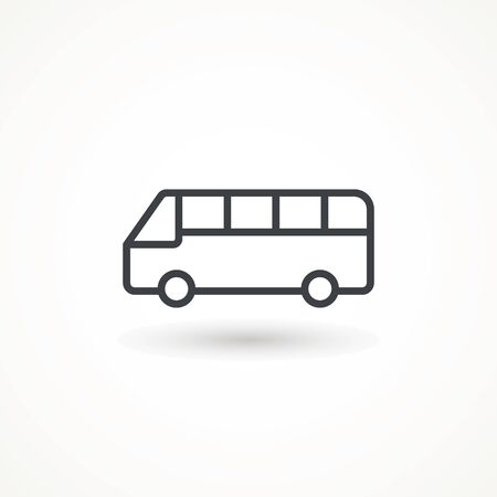 Bus vector icon. Editable Strok. Transportation symbol Vector Logo Template Design Element