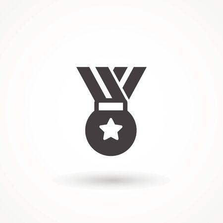 reward medal line icon, outline vector sign, linear style pictogram isolated on white. Symbol, logo illustration. Editable stroke 向量圖像