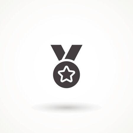 reward medal flat icon, vector sign, pictogram isolated on white. Symbol, logo illustration