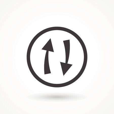 rotation arrow icon refresh. cyclic arrows refund vector icon. update graphic symbol Vector Illustration  イラスト・ベクター素材