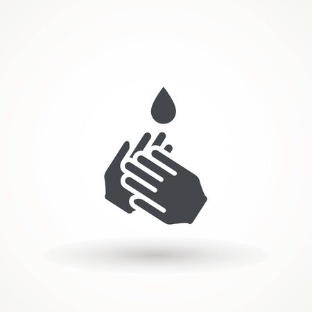 Hand wash flat vector icon. Clean hands flat vector icon washing . Hygiene symbol on white isolated background.