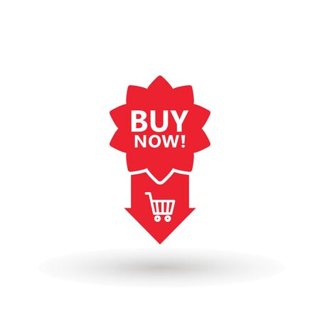 Sale icon : buy now signage. shopping cart buy now line icon button in vector file isolated on white background. Foto de archivo - 145168868