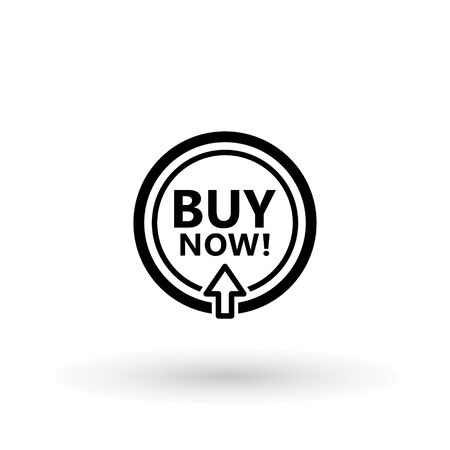 Sale icon : buy now signage. buy now icon button in vector file isolated on white background. Foto de archivo - 145168905
