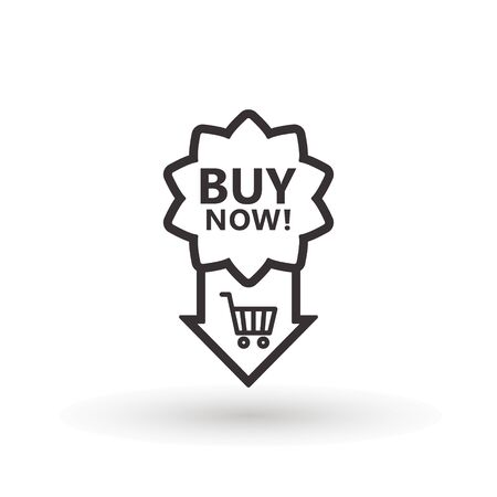 Sale icon : buy now signage. buy now icon button in vector file isolated on white background. Foto de archivo - 145168910