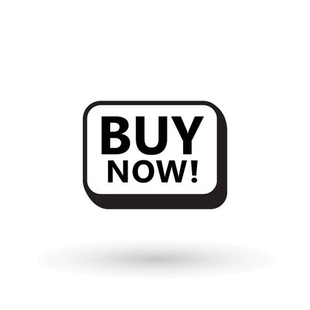 Sale icon : buy now signage. buy now line icon button in vector file isolated on white background. Foto de archivo - 145168944