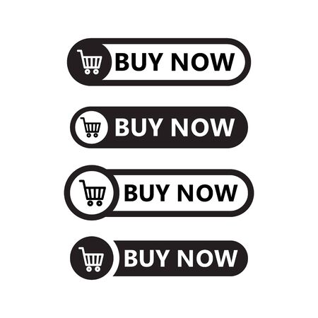 Sale icon : buy now signage. shopping cart buy now line icon button in vector file isolated on white background.