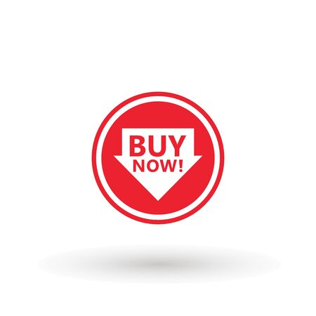 Sale icon : buy now signage. buy now icon button in vector file isolated on white background. Foto de archivo - 145168969