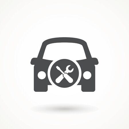 Car service Icon. Care repair logo 矢量图像