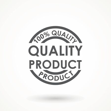 Quality product Ribbon Approved certificate icon isolated on white background