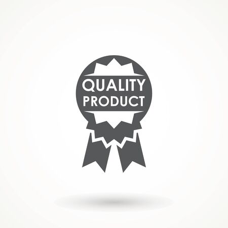 100 Quality product Ribbon Approved certificate icon isolated on white background