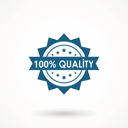 100% Quality product Ribbon Approved certificate icon isolated on white background 矢量图像