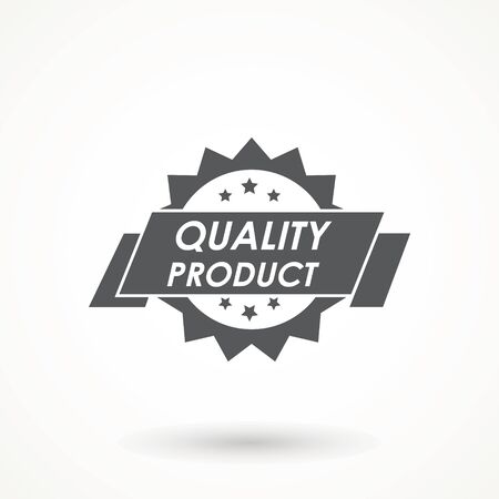 100% Quality product Ribbon Approved certificate icon isolated on white background  イラスト・ベクター素材