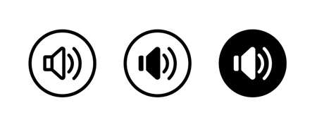 loud speaker icon, Voice , Record. recording Studio Symbol. volume icons button, vector, sign, symbol, logo, illustration, editable stroke, flat design style isolated on white linear pictogram