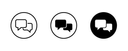 Talk Speech Bubble icon, group chat, Communication, Message Chatting, speak Phone Calls, Video , On-line Support, Consultation icons button vector sign symbol logo illustration, editable stroke line Vectores