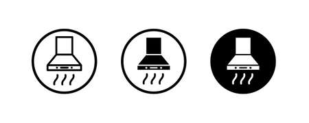 Exhaust hood icon. Electronic devices, Kitchen extractor icons illustration, filter vector sign symbol