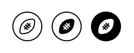 American football icon trendy design template. design. simple design editable Vectores
