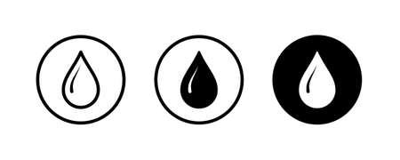 Drop Water, Splash Water Icon Rain Vector Logo Template Vector illustration