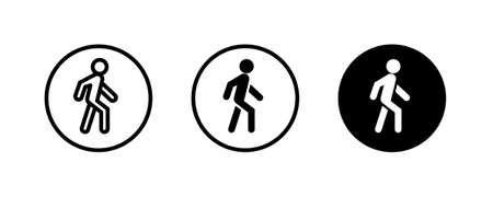 Man walk icon . Walking, run man vector icon. People walk sign illustration. pedestrian vector sign symbol on white background
