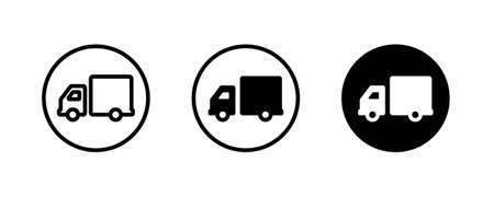 rapid delivery truck icon isolated on white background. vector illustration Fast Shipping Delivery Truck Vectores