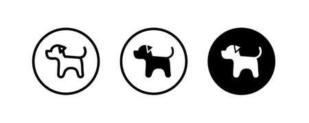 dog pet animal, best friend dog icons button