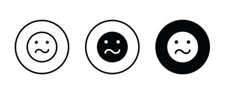 Irritated angry mad emoji, angry icons button flat design style isolated on white linear pictogram