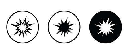 flash, Explosion icon, bursting vector, sign, symbol, logo, illustration, editable stroke, flat design style isolated on white linear pictogram Ilustração