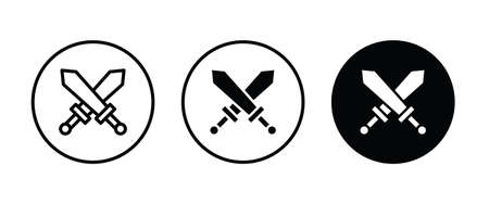 roman sword icons button, vector, sign, symbol, logo, illustration, editable stroke, flat design style isolated on white
