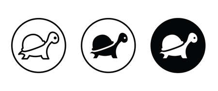 Turtle icon vector, filled flat sign, solid pictogram isolated on white. Ilustração