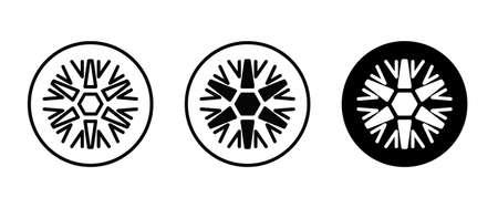 Snow icon. snowflake icons button, vector, sign, symbol, logo, illustration, editable stroke, flat design style isolated on white