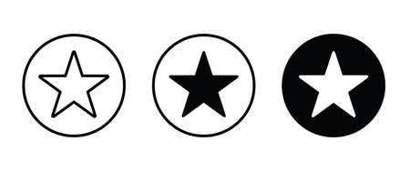 Star shape icon button, vector, sign, symbol, logo, illustration, editable stroke, flat design style isolated on white